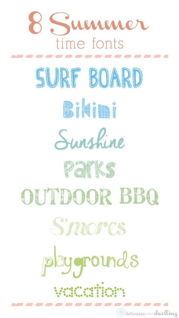 summer fonts, Delineateyourdwelling.com