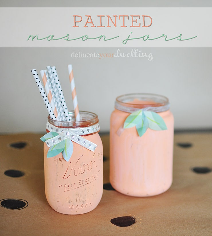 Garden Painted Mason Jars