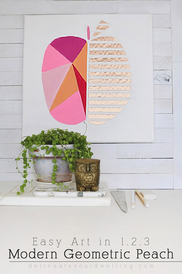 Modern Geometric Peach Art, Delineateyourdwelling.com