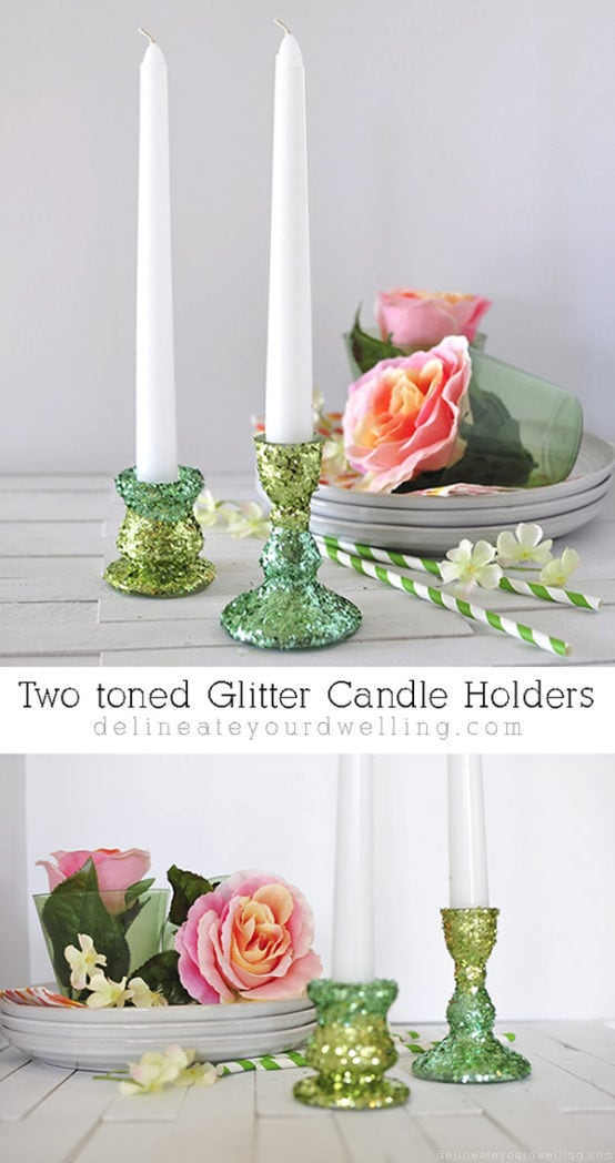 Two Toned Candle Holder, Delineateyourdwelling.com