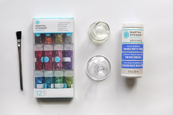 Two Toned Glitter Candle Holder supplies