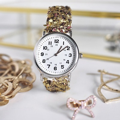 DIY Glitter Watch