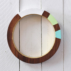 1Painted Wooden Bracalet