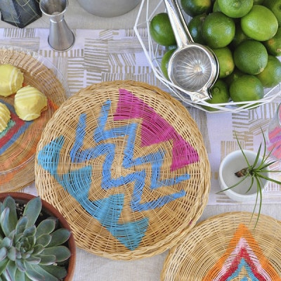 Bohemian DIY Charger Plate