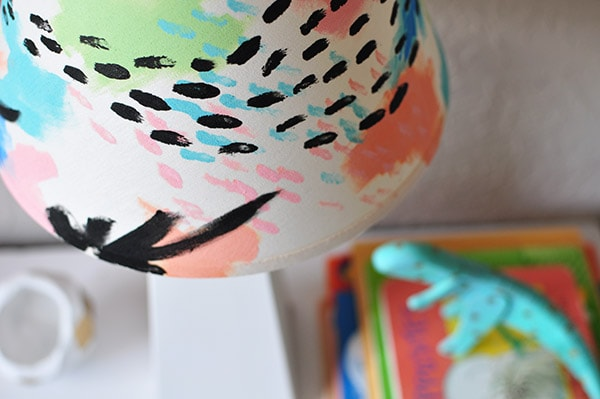 Color Painted Lampshade closeup