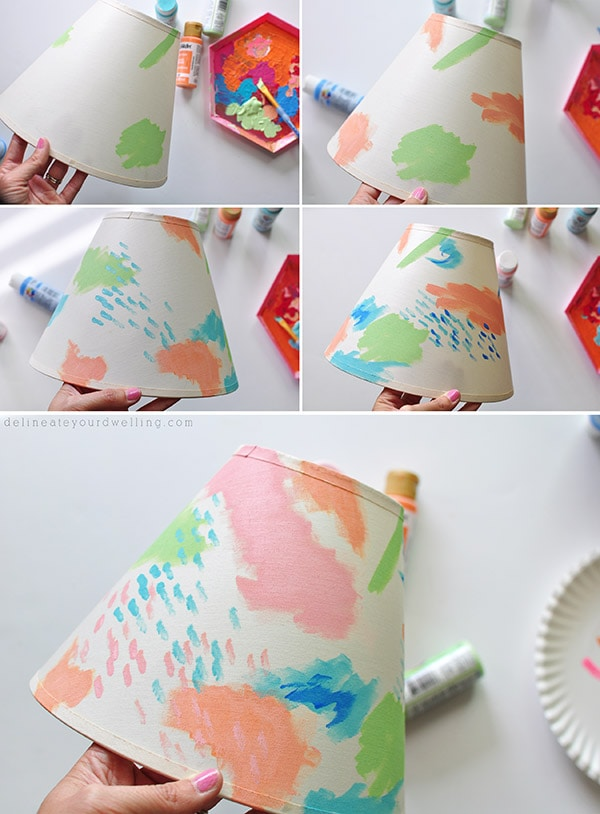 Colorful Painted Lampshade steps