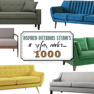 Couches under $1000 - Inspired Interiors Studio Main Image