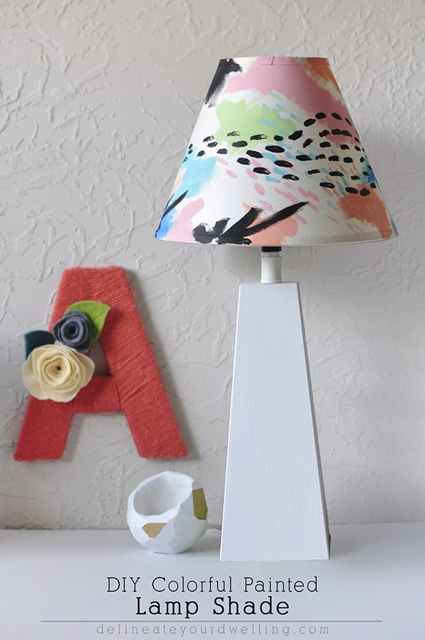 Diy colorful painted lamp shade - Diy lamp shade ...
