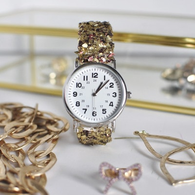 DIY Glitter Watch, Delineateyourdwelling.com