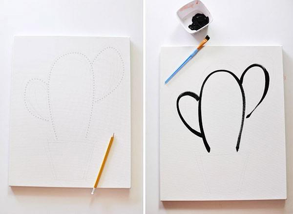 Easy Art, Simple Succulent step1-2