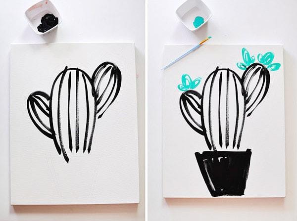 Easy Art, Simple Succulent step3-4