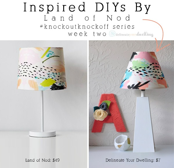 DIY Colorful Painted Lampshade, Delineateyourdwelling.com