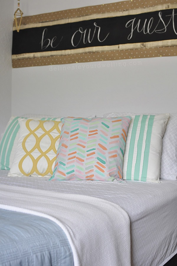 Pastel Painted Pillow Cover