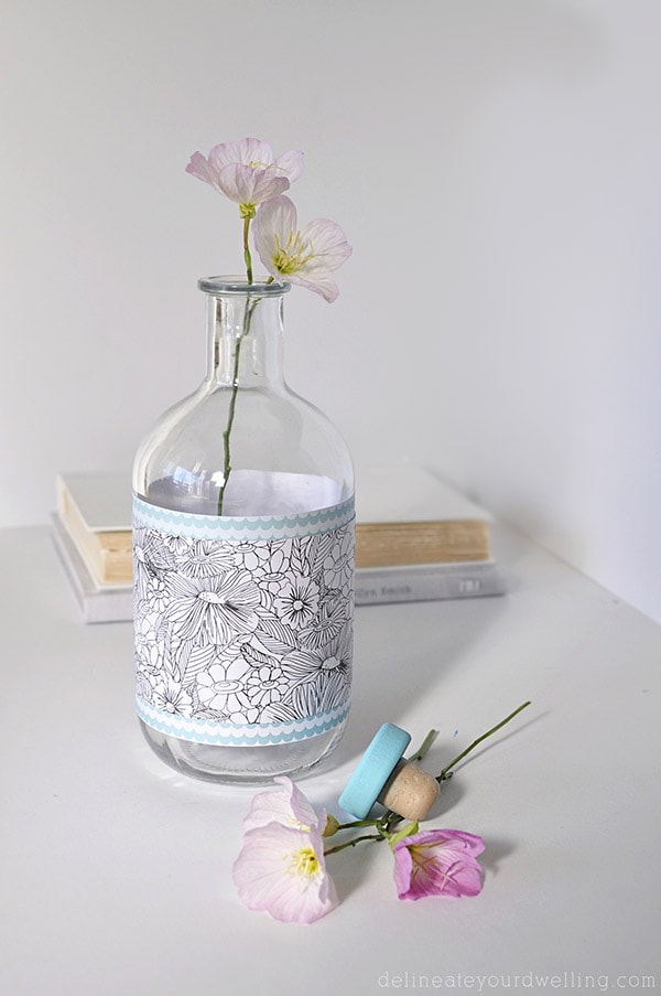Simple Patterned Glass Vase, Delineateyourdwelling.com
