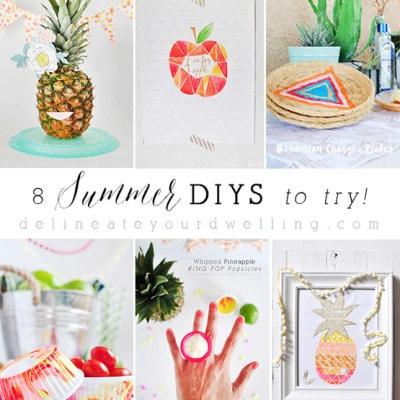 1-8 Easy Summer DIYS