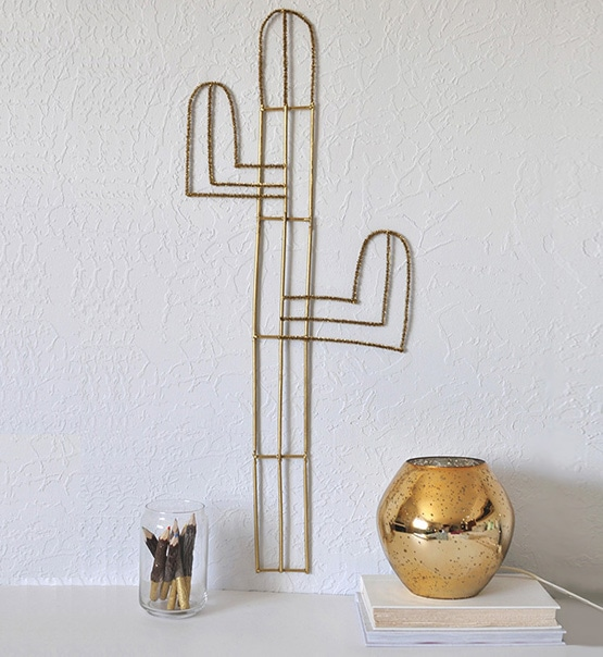 1 Easy Cacti Wall Decor