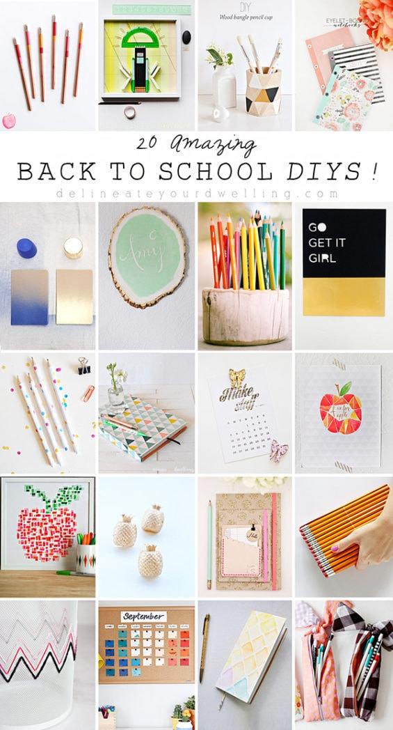 20 Amazing Back to School DIYs, Delineateyourdwelling.com