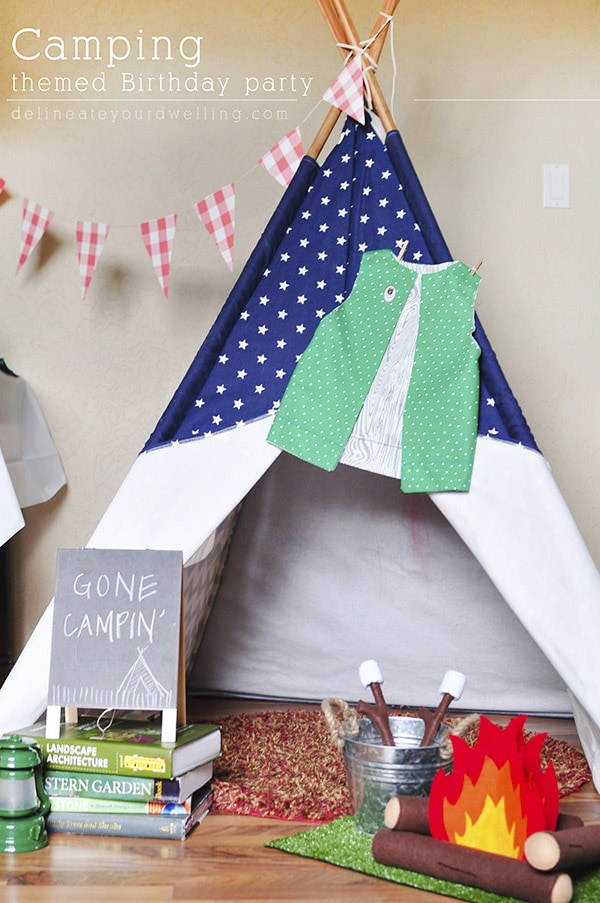 Fun and creative Camping themed birthday party!  Great ideas for your little one's next party. Delineate Your Dwelling