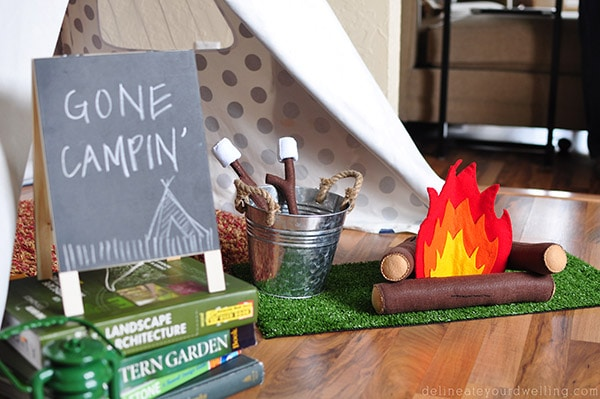Camping themed bday party, Delineateyourdwelling.com