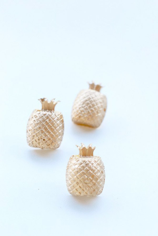 Concrete Pineapple Pushpins