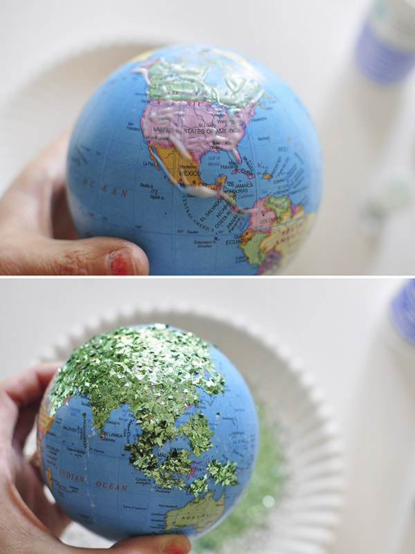 DIY Glitter Globe Mobile steps
