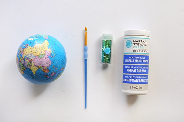 DIY Glitter Globe Mobile supplies