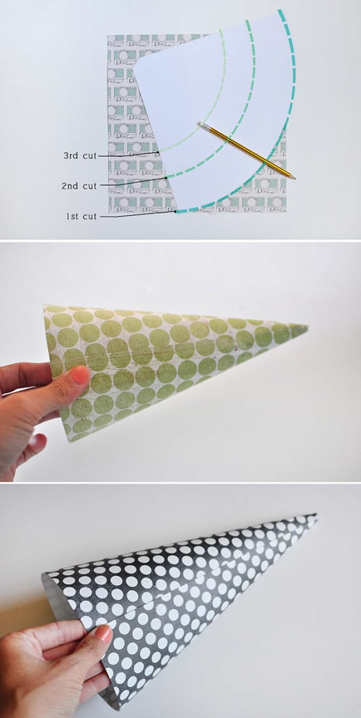 Easy diy cone lantern for Sheet metal cone template