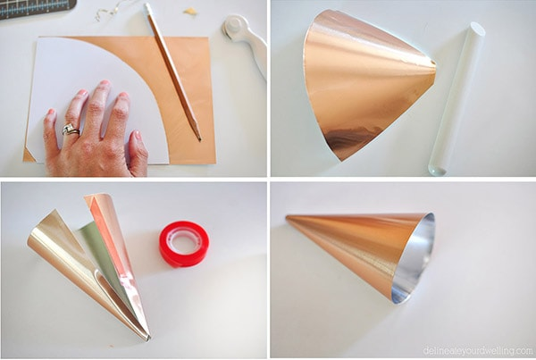 Easy DIY Cone Lantern steps2