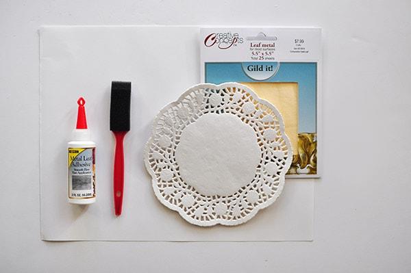 Gold Foil Doily Art supplies