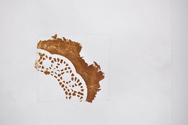 Gold Foil Doily Art1, delineateyourdwelling.com