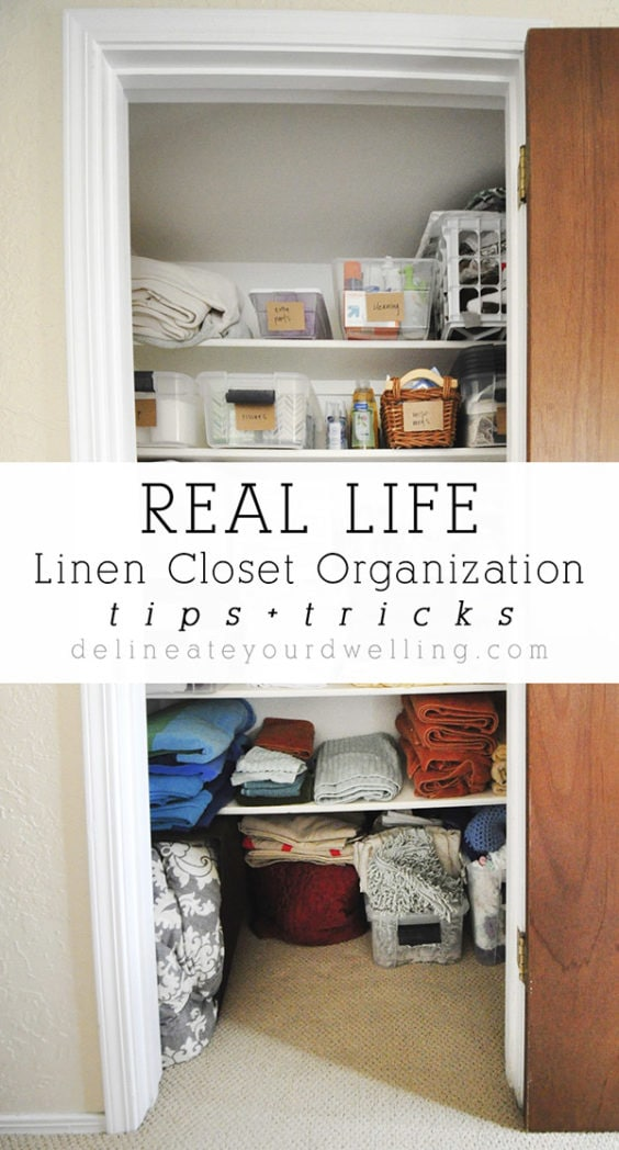 Tips and Tricks Linen Closet Organization, Delineateyourdwelling.com