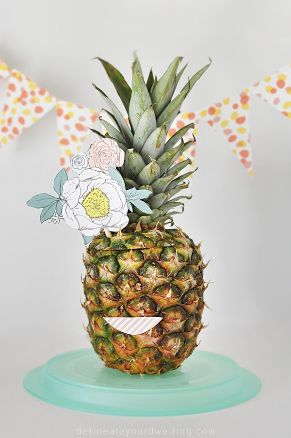 Pineapples as Party Decor