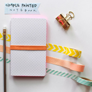 1 Simple Painted Notebook