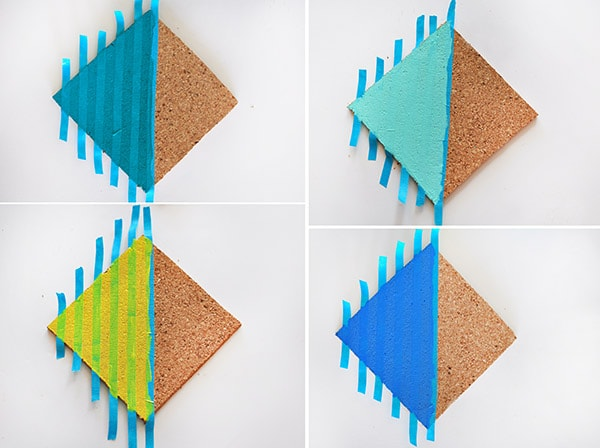 Colorful Striped Coasters steps