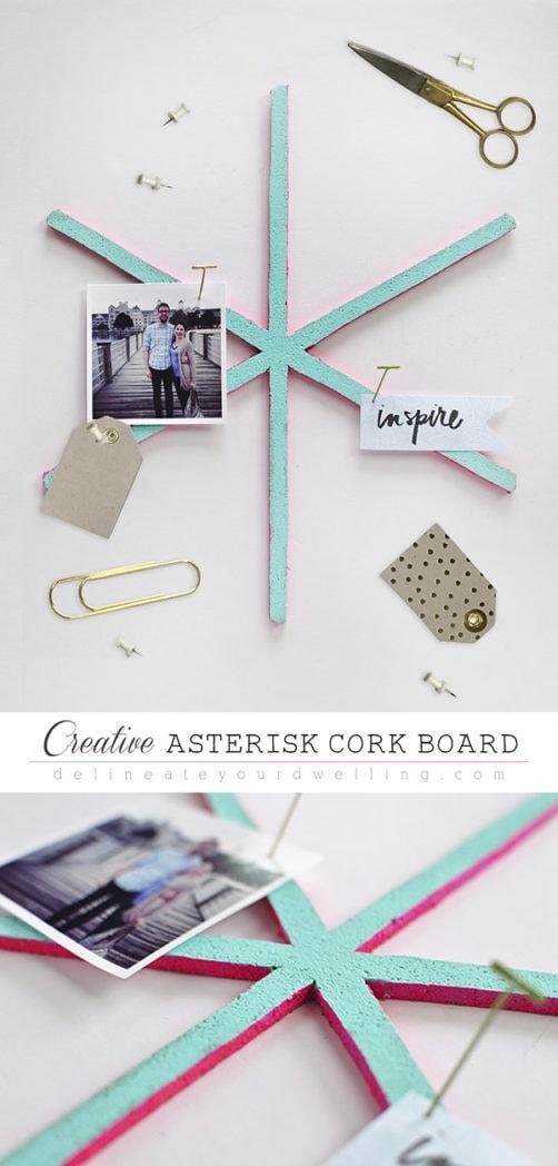 Creative Asterisk Cork Board, Delineateyourdwelling.com