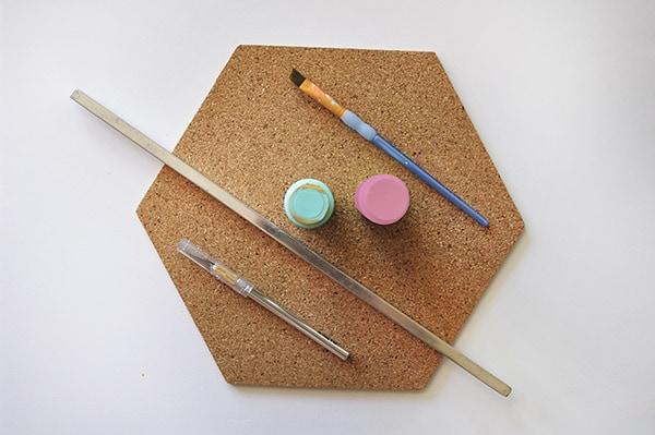 Creative Asterisk Cork Board supplies