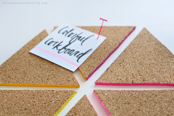 Colorful Triangle Corkboard, Delineateyourdwelling.com