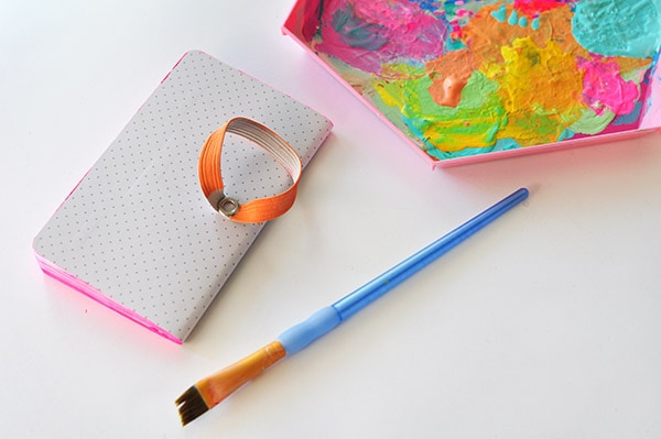 Simple Painted Notebook step