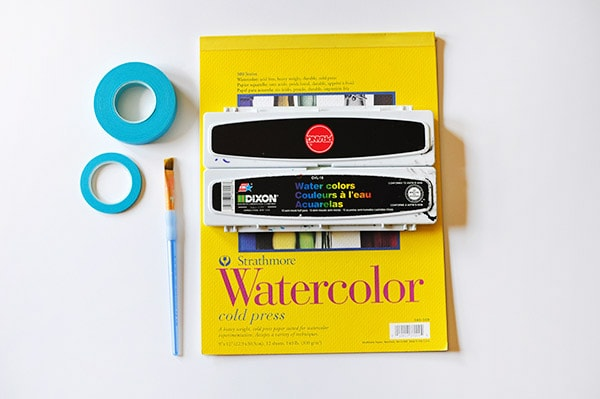 Watercolor Gem Easy Art supplies