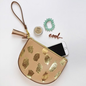 1 Gold Leaf Brushstroke Clutch
