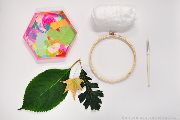 Colorful Leaf Hanging supplies