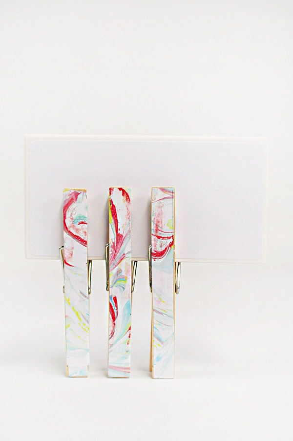 DIY Marbled Clothes Pins, Delineate Your Dwelling