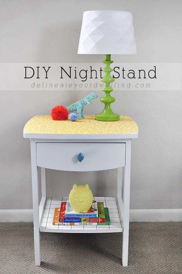 DIY Nightstand, Delineateyourdwelling.com