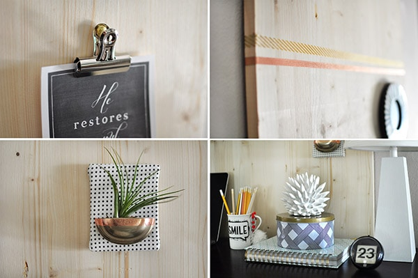 Rental Friendly Wood Memo Board details