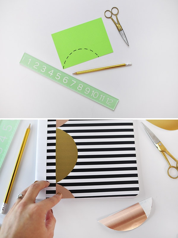 Scallop Notebook Decal steps