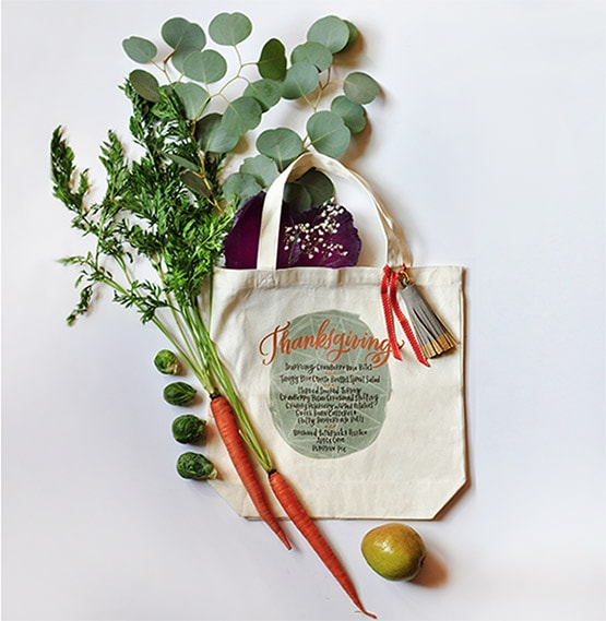 1 Thanksgiving Menu Tote