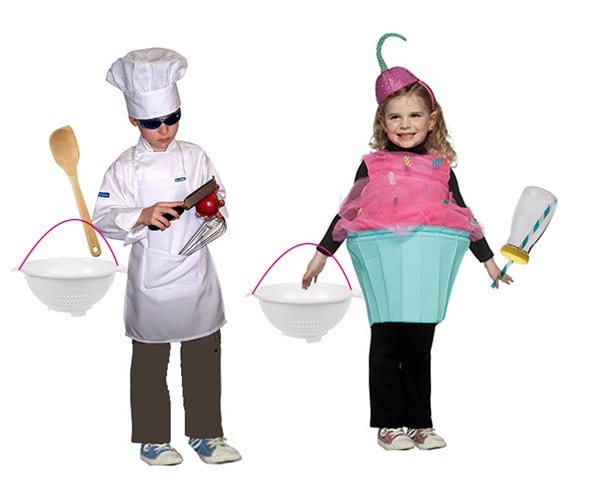 Baker-Cupcake Halloween Costume supplies