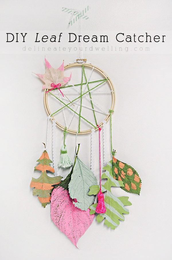 Easy Fall craft, DIY Leaf Dream Catcher - Delineate Your Dwelling