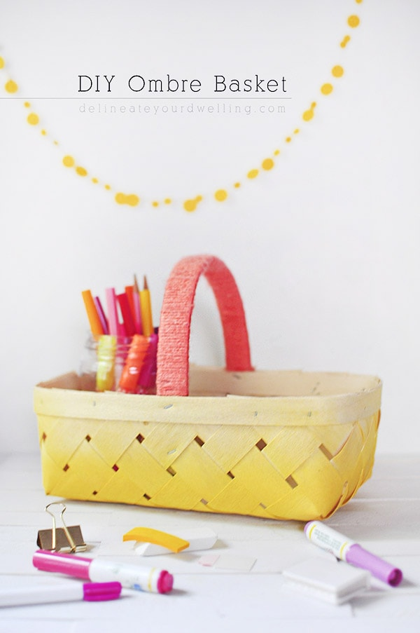 DIY Yellow Ombre Basket, Delineate Your Dwelling
