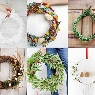 1- 15 Festive Holiday Wreaths